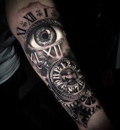 Ideas Tattoo Forearm Clock For 2019 Tattoos for men clock 8 tattoos for men clock Forarm Tattoos, Top Tattoos, Body Art Tattoos, Hand Tattoos, Tattoo Forearm, Clock Tattoos, Small Tattoos, Half Sleeve Tattoos For Guys, Best Sleeve Tattoos