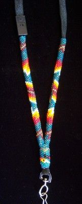 NATIVE AMERICAN BEADED LANYARD, MUST SEE!