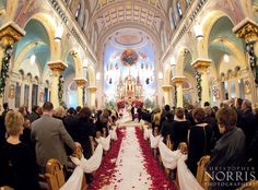 The beautiful St. John Cantius in Cleveland.  Wedding photography by Christopher Norris Photographers