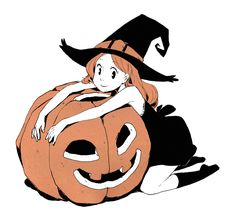 Inktober day 30 : Happy halloween ! You can check here if you're looking for more cute witches and pumpkins ^^...