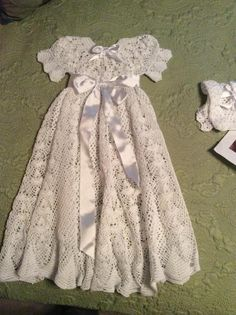 (4) Name: 'Crocheting : Heirloom Vintage Style Christening Gown