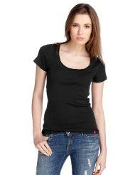 edc by ESPRIT Damen T-Shirt Regular Fit, 032CC1K023