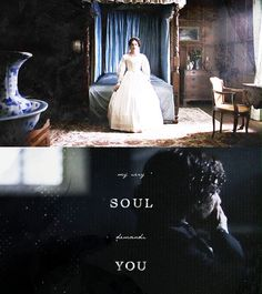 My very soul demands you. It will be satisfied, or it will take deadly vengeance on its frame. Jane Eyre Film, Jane Eyre 2006, Jane Austen, Jane Eyer, Charlotte Bronte Jane Eyre, Ruth Wilson, Toby Stephens, Bronte Sisters, Masterpiece Theater