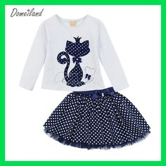 2017 Fashion Spring DOMEILAND Boutique Outfits Baby clothes Girls Sets Cute cat Print Long Sleeve Tops Bow Tutu Skirts suits - Kid Shop Global - Kids & Baby Shop Online - baby & kids clothing, toys for baby & kid Fashion Kids, Spring Fashion, Toddler Fashion, Little Girl Dresses, Girls Dresses, Baby Outfits, Kids Outfits, Tutu Outfits, Wedding Outfits