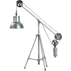 Weighted Balance Industrial Loft Vintage Metal Desk Lamp ($728) via Polyvore