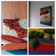 fiber art by cornelia sheep arte con fibras de cornelia sheep