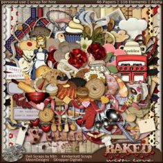 Baked With Love - The Kit -  #digitalscrapbookingstudio #thestudio