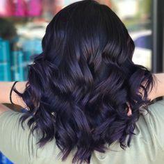 Hair color for black hair, Purple ombre hair, Brunette hair color, Hair tint, Ha. Hair color for b Deep Purple Hair, Hair Color Purple, Hair Color For Black Hair, Cool Hair Color, Dark Violet Hair, Purple Tinted Hair, Green Hair, Blue Hair, Lilac Hair