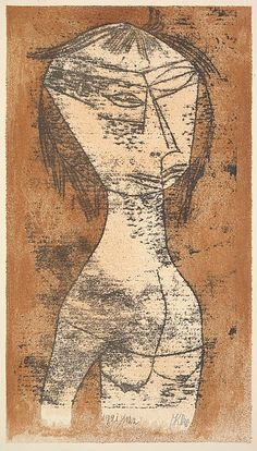 Paul Klee - 'The Saint of the Inner Light' - (Die Helige vom inner Licht) |