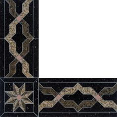 Libra stone border from Oshkosh Designs, shown in granite and copper. Custom options available to make this floor border fit your design needs. Libra Stone, Granite Polish, Brown Granite, Granite Flooring, Metal Floor, Border Design, Stone Tiles, Wood Species, Copper
