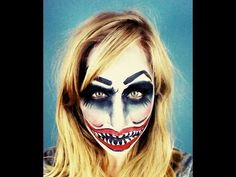 Evil Clown Halloween Makeup - YouTube