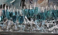 Blauwe champagne - welkomstdrankje #kraamfeest
