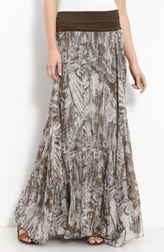 Willow & Clay Print Maxi Skirt available at Nordstrom Modest Outfits, Skirt Outfits, Modest Fashion, Dress Skirt, Summer Outfits, Cute Outfits, Printed Maxi Skirts, Midi Skirts, Long Skirts