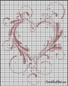 Heart cross stitch pattern by Kyle Hagerman Cross Stitching, Cross Stitch Embroidery, Embroidery Patterns, Cross Stitch Needles, Cross Stitch Heart, Cross Stitch Designs, Cross Stitch Patterns, Crochet Cross, Filet Crochet