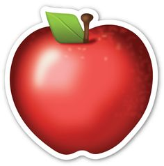 Red Apple Apple Pear, Red Apple, Emoji Food, Harvest Farm, Emoji Stickers, Laptop Stickers, Fruits Images, Poison Apples, Telegram Stickers