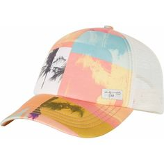 WarholSurf Warhol Trucker Hat (€21) ❤ liked on Polyvore featuring accessories, hats, snapback hats, bills hat, graphic hats, palm hat and snapback trucker hats