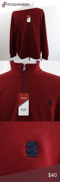 31ab9146aa0f Izod The Advantage Fleece Spectator Sweater Fleece This is an IZOD The  Advantage Fleece Spectator Sweater