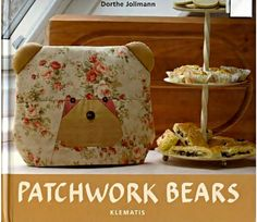 Patchwork bears -- bear bags in 2 sizes, bear pencil bag, cosmetic bag, and cosmetic bag.  Key ring fob and a few other bear items.  Paper piece patter and instructions.