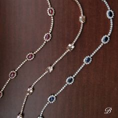 Ruby, morganite, and sapphire bracelets from our recent trip to Tucson