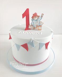 Paddington Bear first birthday cake Thomas Birthday Cakes, Second Birthday Cakes, Bear Birthday, Birthday Ideas, Paddington Bear Party, Luxury Cake, Sugar Cake, Cupcakes, Muffins