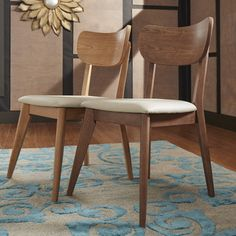MID-CENTURY LIVING Penelope Danish Modern Tapered-leg Dining Chair (Set of 2)   Overstock.com Shopping - The Best Deals on Dining Chairs