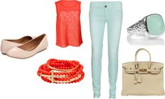 """corall"" by dreamer-dx on Polyvore"