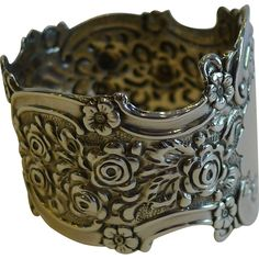 Stunning Antique English Sterling Silver Napkin Ring - 1895