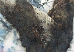 iamjapanese:    Lin Shun-Shiung(林順雄 Taiwanese, b.1948 )  靈然獨照  2012  Watercolor