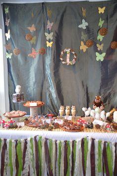 Gruffalo Themed first birthday party. www.sweettoothevents.ca Third Birthday, First Birthday Parties, Birthday Party Themes, First Birthdays, Birthday Ideas, Woodland Theme, Woodland Party, Gruffalo Party, Gruffalo's Child