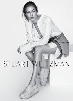 Gigi Hadid for Stuart Weitzman SS16.