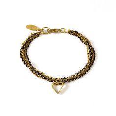 Heart Chain Bracelet, $39,  by ASTALI !!