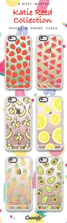 Top 6 iPhone 6 protective phone case designs by Katie Reed | Click through to see more iPhone phone case idea >>> https://www.casetify.com/katscases/collection | @casetify