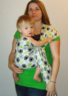 Ring Sling Carrier  Baby Sling   Green and Black by Sewingmommy, $39.50