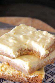 creamy lemon coconut cheesecake squares