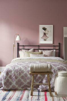 Altrosa Wandfarbe Für Die Vintage Wandgestaltung Im Schlafzimmer
