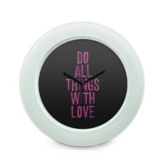 BigOwl   Do All Things With Love Table Clock Online India at BigOwl.in