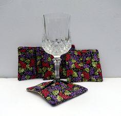 Wine Glass Stemware Coasters by PatchworkByPaula on Etsy, $8.00