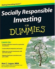 Socially Responsible Investing For Dummies (For Dummies (Business & Personal Finance))