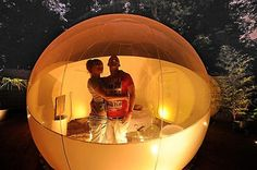 Don't want to live in a bubble?  Just stay in one overnight.