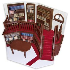 The split level with the kids reading nook in front. ....Buffy the Vampire Slayer - Sunnydale High School Library playset diorama