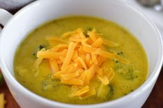 21 Day Fix Broccoli Cheese Soup (crockpot lunch 21 days)