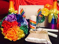 Набор свадебных аксессуаров для радужной свадьбы моей подруги
