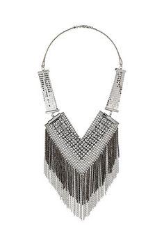 Top Shop 12/12 V Section Necklace
