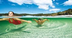 World Heritage-listed Fraser Island is the world's largest sand island! Located just north of Queensland's capital Brisbane in Australia. Queensland Australia, Australia Travel, Sand Island, Fraser Island, Great Walks, Off Road Adventure, Island Tour, Vacation Deals, Great Barrier Reef