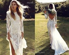 Vintage Lace Boho Wedding Dress with Long Sleeves Backless Summer Beach Bridal . - Vintage Lace Boho Wedding Dress with Long Sleeves Backless Summer Beach Wedding Dress 2018 Summer Bohemian Wedding Dress by Remotemoon dress Wedding Dresses 2018, Bohemian Wedding Dresses, Boho Dress, Bridal Dresses, Lace Dresses, Dress Wedding, Prom Dresses, Bohemian Weddings, Beach Weddings