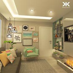 """1,790 Likes, 23 Comments - DANIEL KROTH Arquitetura (@danielkroth) on Instagram: """"Que o domingo seja descontraído e leve ao mesmo tempo, assim como essa Sala de TV projetada para…"""""""