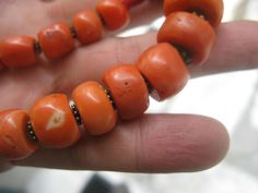 Old Chinese Tibetan Coral Beads Necklace 169 grams
