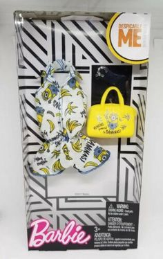 Barbie Fashionista Complete Outfit NIB BANANA Yellow Bag Halter Short Set