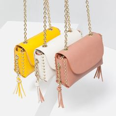 Image 4 of STUDS AND CHAIN CROSS BODY BAG from Zara
