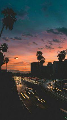 Paisagem, noite, city